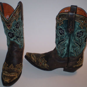 Dan Post Size 10 Bluebird Cowbow boots Beautiful